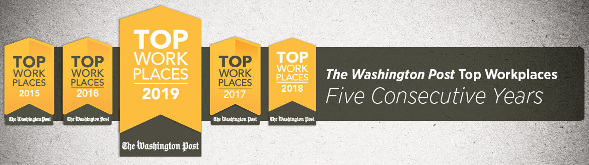 Proud to be a consecutive Washington Post Top Workplace